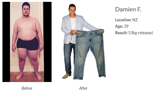 Damiens Isagenix Transformation