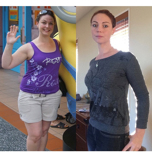 Sara Before and After Using Isagenix